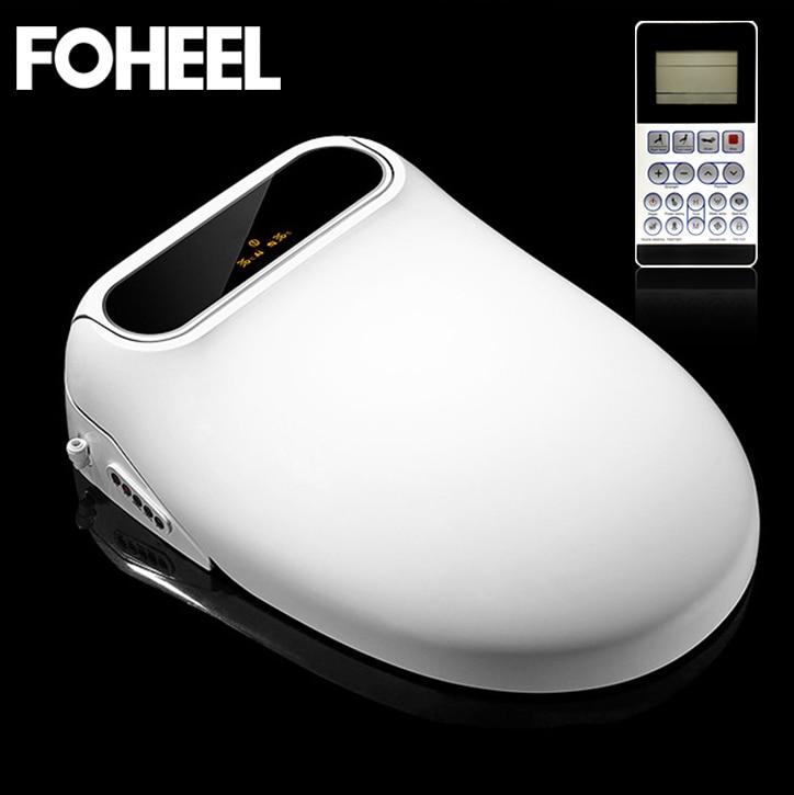FOHEEL Smart Toilet Seat Intelligent LCD Intelligent Toilet Elongated Electric Bidet Cover Led Light Wc Smart Bidet Heating Sits