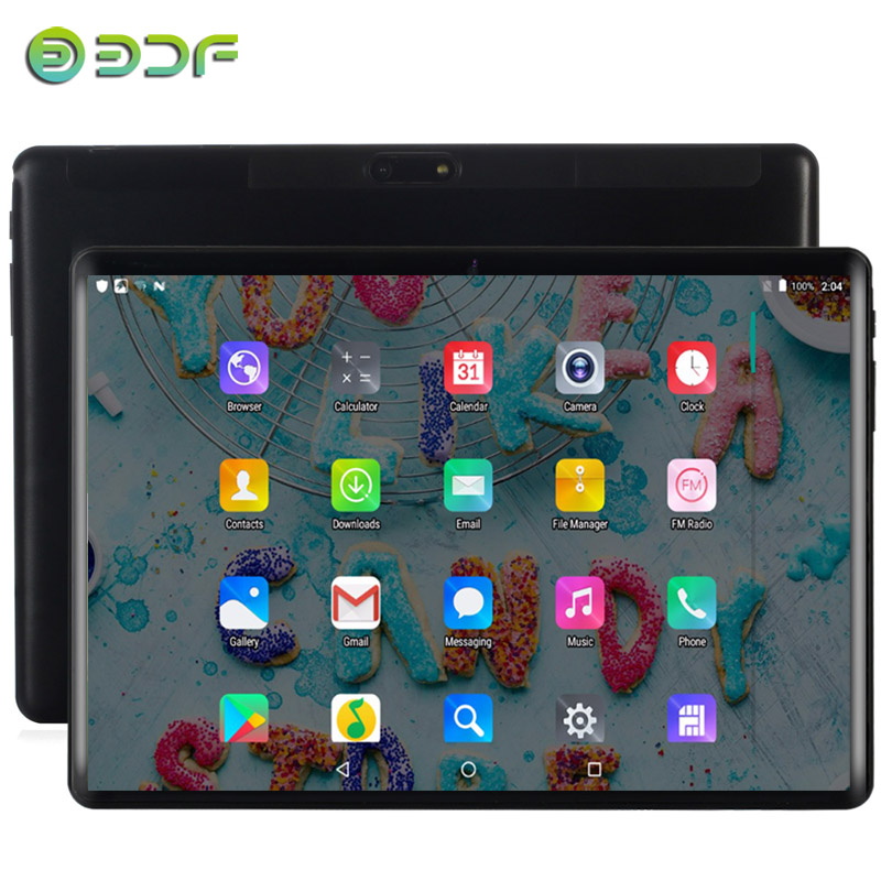 2.5D Tempered Glass 10.1 TabletS 4G/3G Phone Call Android 7.0 Fast Octa Core 4GB/64GB Dual SIM Wi-Fi Bluetooth 4G LTE Tablet PC