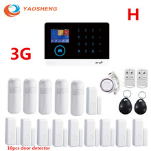 цена на 3G IOS/Android APP Remote Control GPRS RFID Card Wireless WIFI Home /Business Burglar Security Alarm System With Detector Alarm