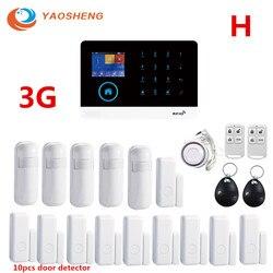 3G IOS/aplikacja na androida pilot GPRS karta rfid bezprzewodowy WIFI dom/biznes włamywacz System alarmowy z detektor alarmu w Zestawy systemów alarmowych od Bezpieczeństwo i ochrona na