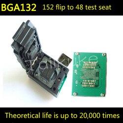 BGA152 odwróć odłamki obracające się gniazdo testowe DIP48 dysk SSD U pamięć Flash BGA132|Części do klimatyzatorów|AGD -