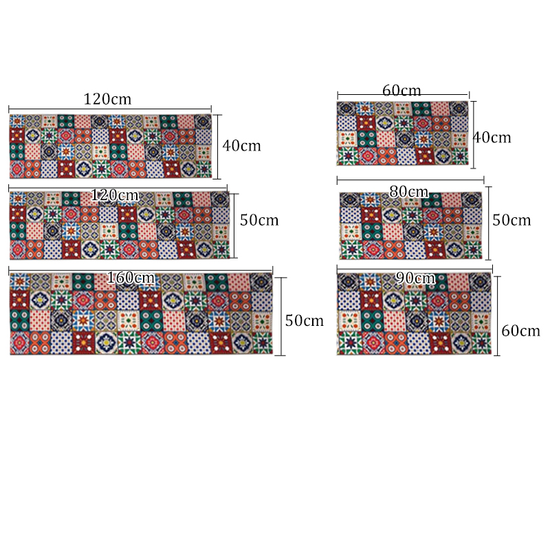 2PCS Kitchen Mats Made With Polyester Material for Modern Kitchen Balcony and Hallway Floor 5