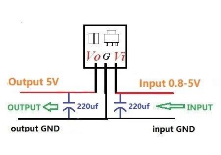 Module d'alimentation DC-DC 0.9-5V à 5V