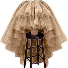 Разноцветные юбки женские высокие низкие многоуровневые слои фатиновые юбки Персонализированная пышная Асимметричная юбка-пачка для взрослых Ночная юбка
