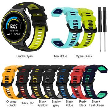 10 Colors Silicone 22mm Strap Sports Strap For Garmin Forerunner 735xt 220 230 235 620 630 Two-color Silicone Replacement Steel 1