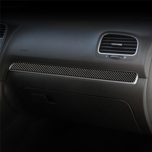For VW Golf 6 Gti R MK6 2008-2012 Vehicle Interior Dashboard Center Console Cover Trim Decals Carbon Fiber Stickers Car Styling