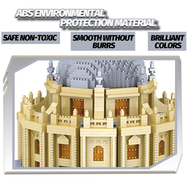 Creator 3D Mini Famous Architecture Bricks City Church House Diamond Oxford University Building Blocks Diy Toys for Children