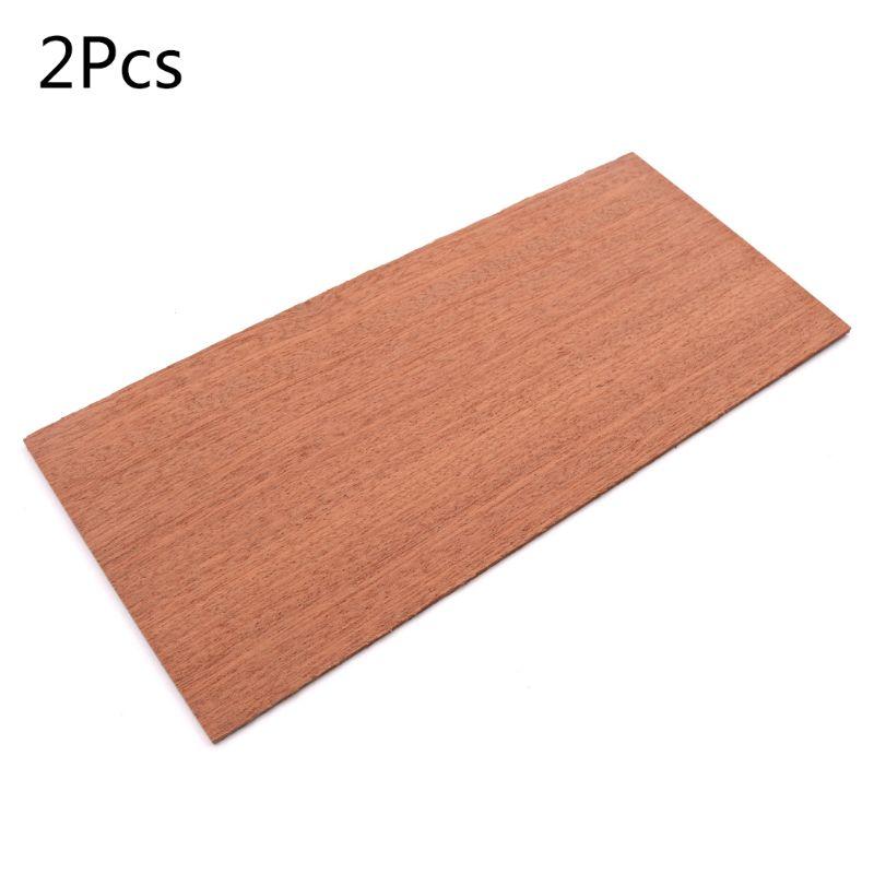 2 Pcs/set Guitar Parts Headplate Wood For Luthier DIY Guitars Head Veneer Sheets