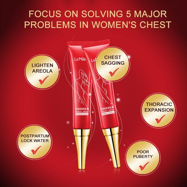 Pechos más grandes crema de agrandamiento de pecho de elasticidad completa potenciador eficaz aumento de densidad gran busto crema de pecho cuerpo TSLM1