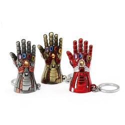 Новинка! Одежда с изображением Мстителей перчатка Халка брелок Marvel завершающей бесконечное Мощность перчатку брелки для ключей металличес...