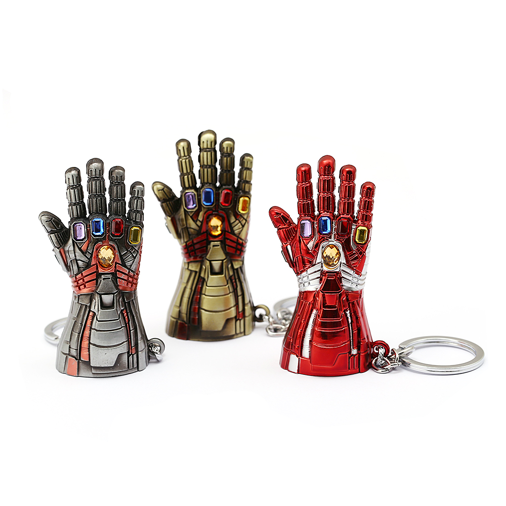 New Avengers Hulk Glove Keychain Marvel Endgame Infinite Power Gauntlet Keyrings Key Chains Metal Pendant Jewelry Llaveros