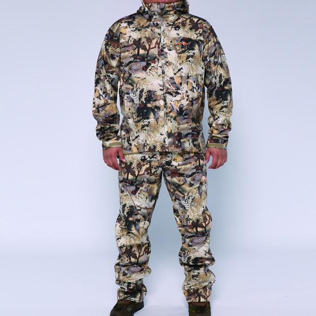 2019 sitex 스나이퍼 huting jacket + pants 폴리 에스테르 방풍 보세 양털 물새 marsh