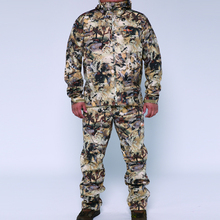 2019 sitex sniper huting jacket + calças poliéster resistente ao vento ligado velo waterfowl marsh