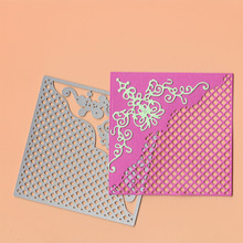 New Metal Cutting Die Grid Square Frame Flower Stencil Scrapbooking Dies for DIY Paper Card Album Decor Embossing Knife