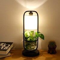 النبات الأمريكي بوعاء بار ، دراسة ، غرفة نوم ، أباجورة ، غرفة الطعام ، الفردية الخضراء لوتس الجدول مصباح