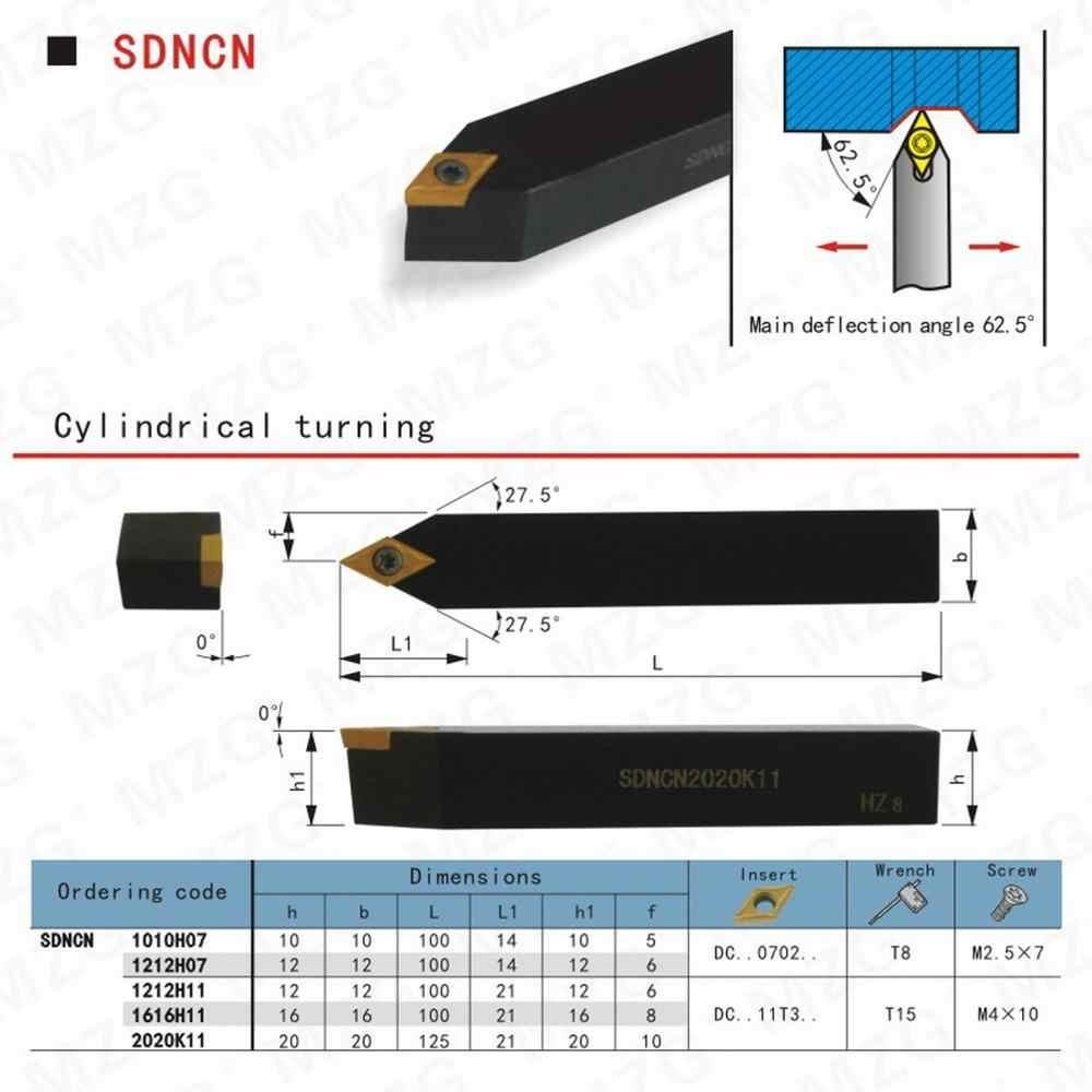 Mzg 10mm 16mm 20mm sdncn1010h07 torneamento mandril cnc torno cortador barra inserções de carboneto ferramenta chato externo apertados aço toolder