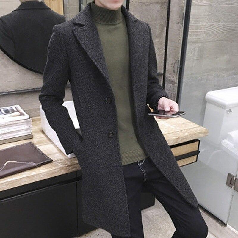 New Mens Trench Coat Long Jacket Mens Overcoat Casual Slim Fit Solid Long Coat Men Fashion Autumn Winter Coats Plus Size 5XL