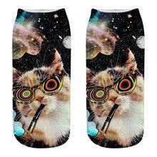 Носки с рисунком кота, 3D сублимированные эластичные носки, Необычные крутые носки для подарков, L501016