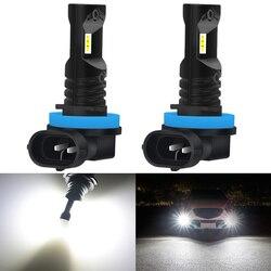 2 sztuk 1600LM 9005 9006 H8 H11 światła przeciwmgielne LED 12V H1 H3 H10 PSX24W H16 880 881 LED żarówki 6000K Xenon biały samochód DRL światła przeciwmgielne