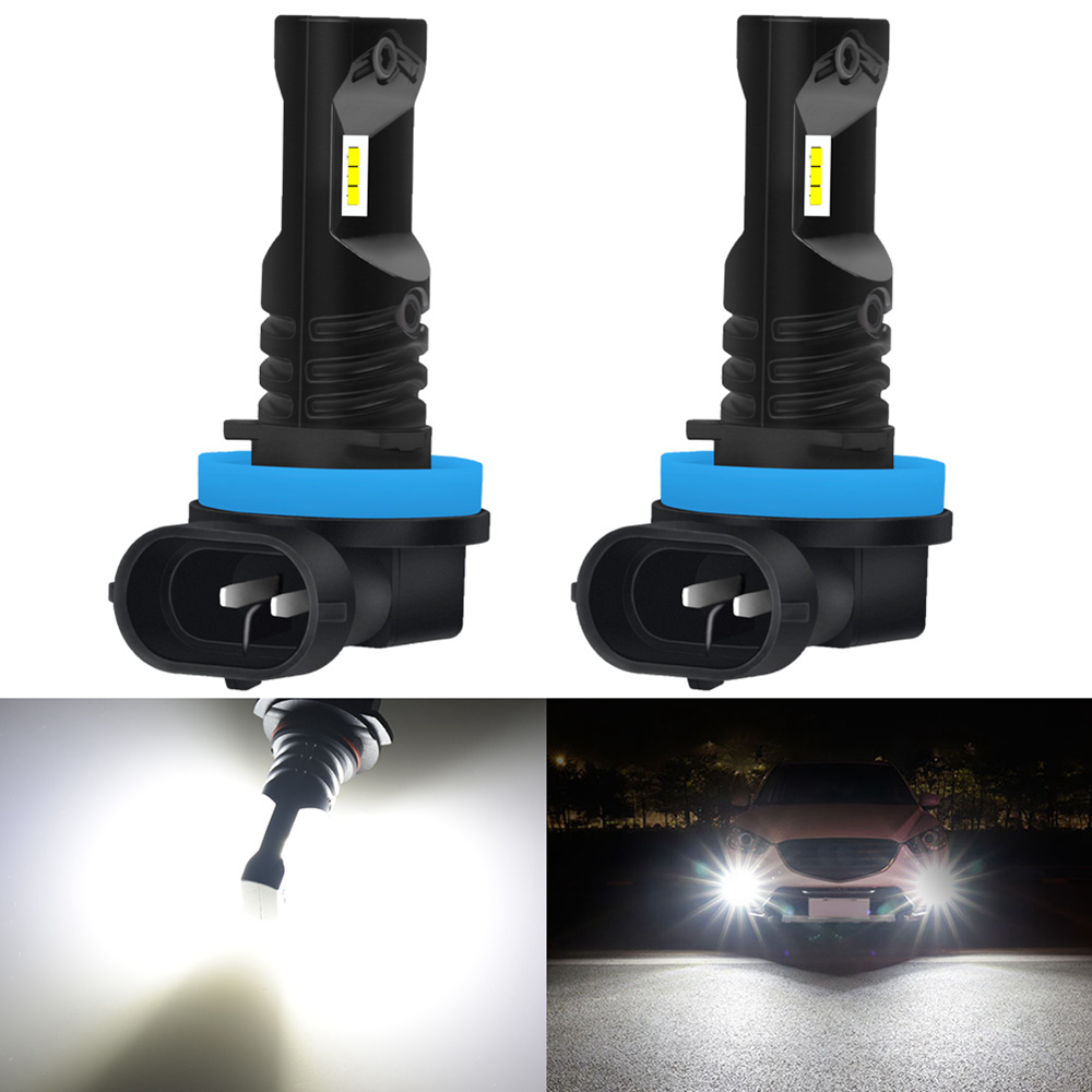 2pcs 1600LM 9005 9006 H8 H11 LED Fog Lights Bulb 12V H1 H3 H10 PSX24W H16 880 881 LED Bulbs 6000K Xenon White Car DRL Fog Lamp