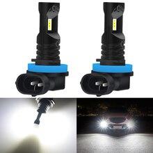 Ampoule pour brouillard de voiture, lampe au xénon blanc, 12V H1 H3 H10 PSX24W H16 9005 9006 LED 880 K, 2 pièces 1600LM 881 H8 H11 ampoule LED