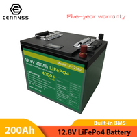 Nuovo pacco batteria 12V 200AH Lifepo4 202AH batterie al litio ferro fosfato batterie ricaricabili per motore barca EU US esentasse