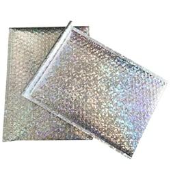 50Pc opakowanie koperty z bąbelkami złoty papier koperty bąbelkowe prezent torba Bubble koperta pocztowa torba 15x13Cm + 4Cm|Składane torby do przechowywania|Dom i ogród -