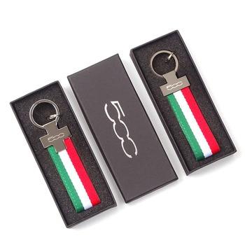 LLavero de Metal con bandera italiana para Alfa Romeo Fiat 500, llavero...
