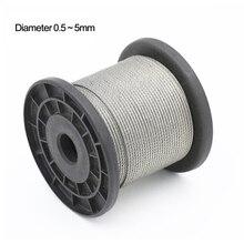 Трос из нержавеющей стали, 0,5-5 мм, 20-100 метров, 304 #