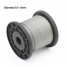 Średnica 0.5 -- 5mm,20 do 100 metrów 304 # lina ze stali nierdzewnej miękki kabel wędkowanie bielizny podnoszenia kabel ze stali nierdzewnej