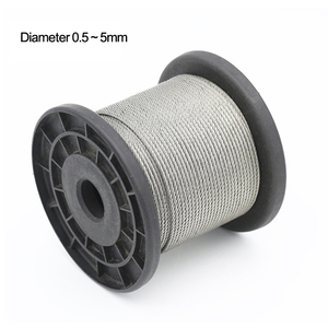 Diameter 0.5--5mm,20 to 100 meters 304# Stainless Steel Wire Rope Soft Cable Fishing Clothesline Lifting Rustproof Cable