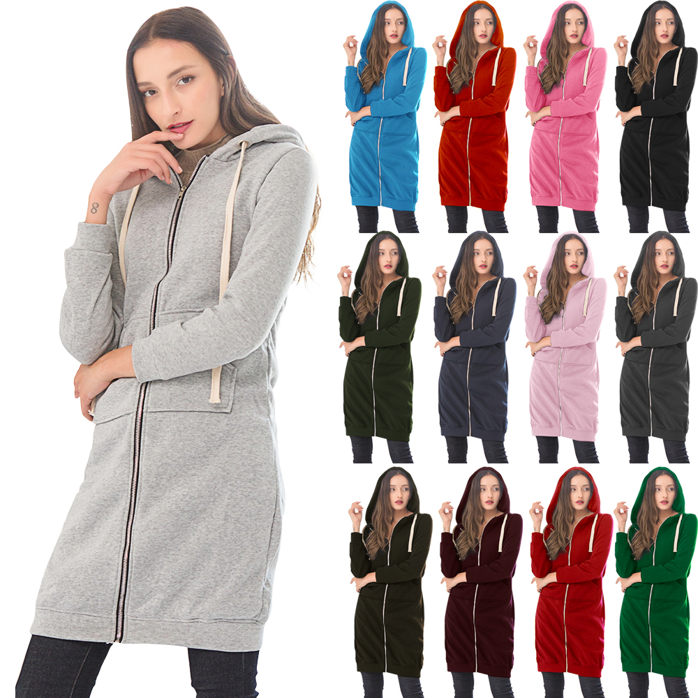 Wipalo Autumn Winte Women Casual Long Zipper Hooded Jacket Hoodies Sweatshirt Vintage Plus Size 5XL Pink Outwear Hoody Coat 5XL