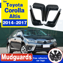 Molded Car Mud Flaps For Toyota Corolla Altis 2014 2015 2016 2017 Mudflaps Splash Guards Mud Flap Front Rear Mudguards Fender set molded mud flaps for honda fit jazz 2014 2017 mudflaps splash guards front rear mud flap mudguards fender 2015 2016