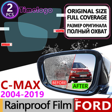 цена на For Ford C-MAX mk1 mk2 2004-2019 Full Cover Anti Fog Film Rearview Mirror Anti-Fog Accessories Focus C MAX Grand CMAX 2010 2011