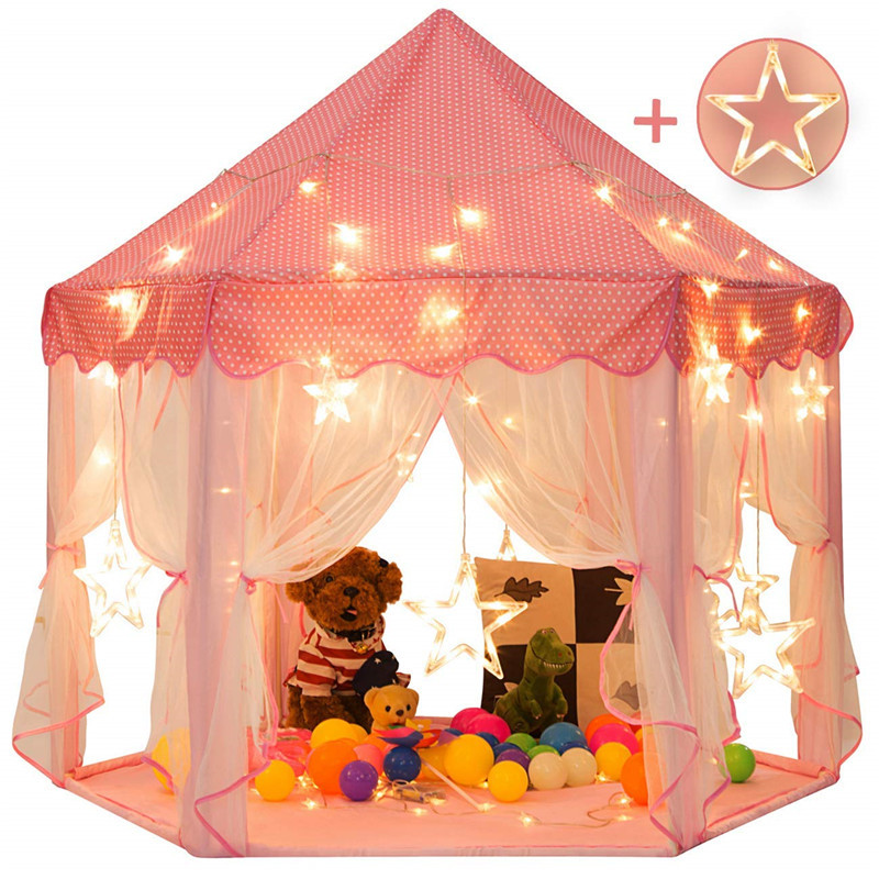 Portable Children's Tent Toy Ball Pool Princess Girl's Castle Play House Kids Small House Folding Playtent Baby Beach Tent