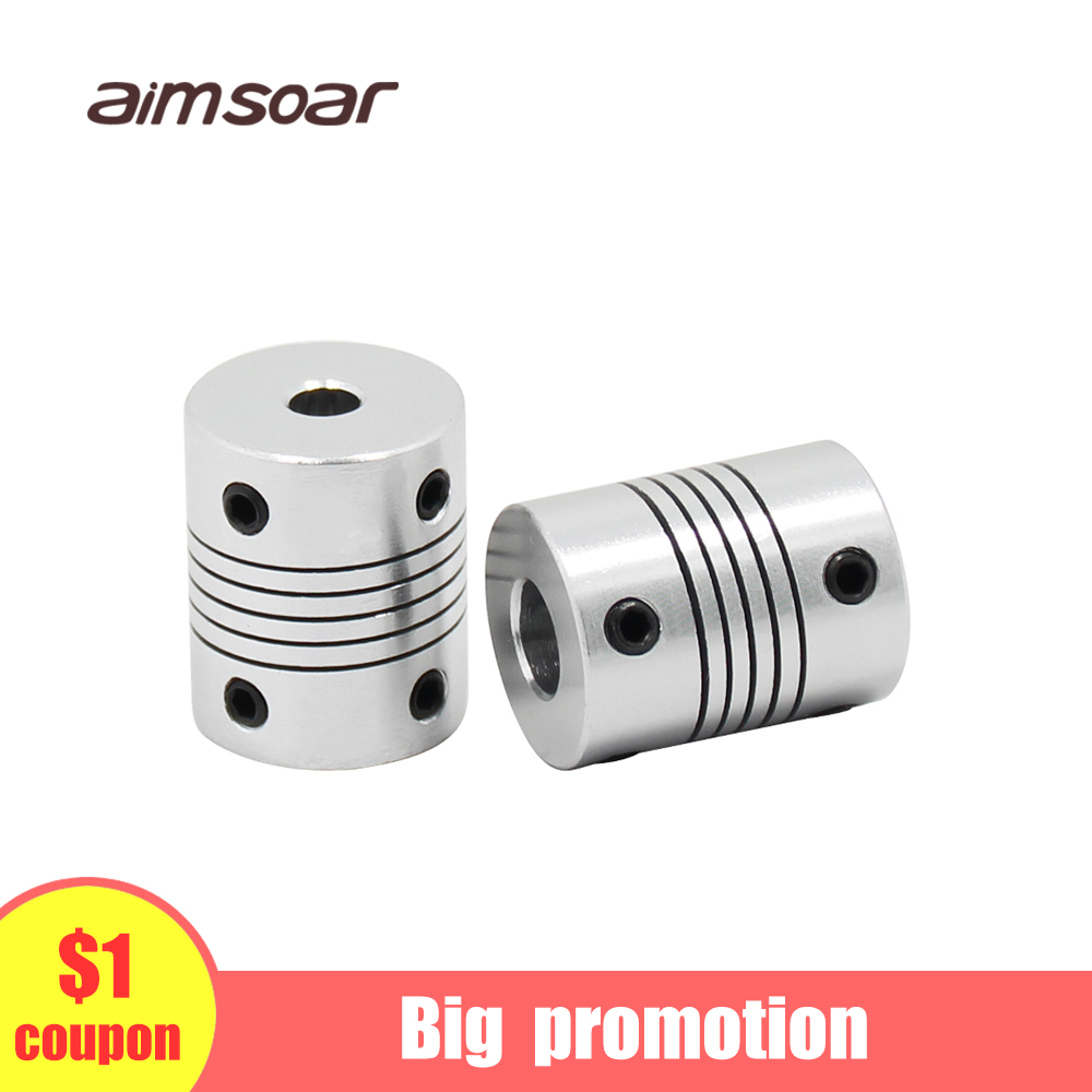 Flexible Coupling 3d Printer Parts For Stepper Motor Aluminum Alloy Coupler Shaft