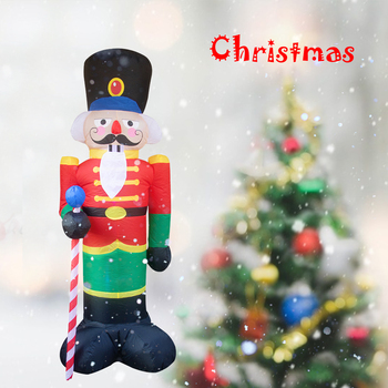 2.4M Inflatable Santa Soldier LED Light Figure Outdoor Garden Toys Christmas Inflatable Xmas Model New Year Decorations 2017 inflatable mushroom model with led light