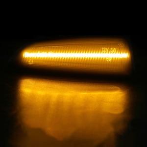 Image 5 - 2pcs Flowing Turn Signal Light Dynamic LED Side Marker Lights For Opel Vauxhall Astra J K Crossland X Grandland Insignia B