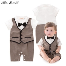 Fashion Newborn Baby Boys Rompers Wedding First Birthday Inf