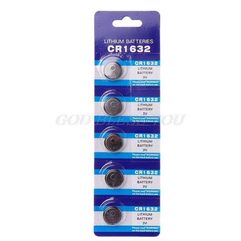 5 шт., батарейки CR1632 для литиевых монет, 3 в, LM1632, BR1632, ECR1632, CR 1632, электронные часы, игрушка, пульт дистанционного управления