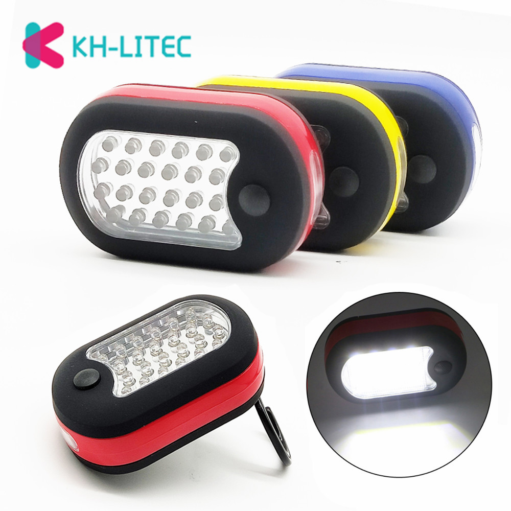 24 LED Powerful Lamp Magnetic Camping Light Super Bright Tent Lamps w// Hook