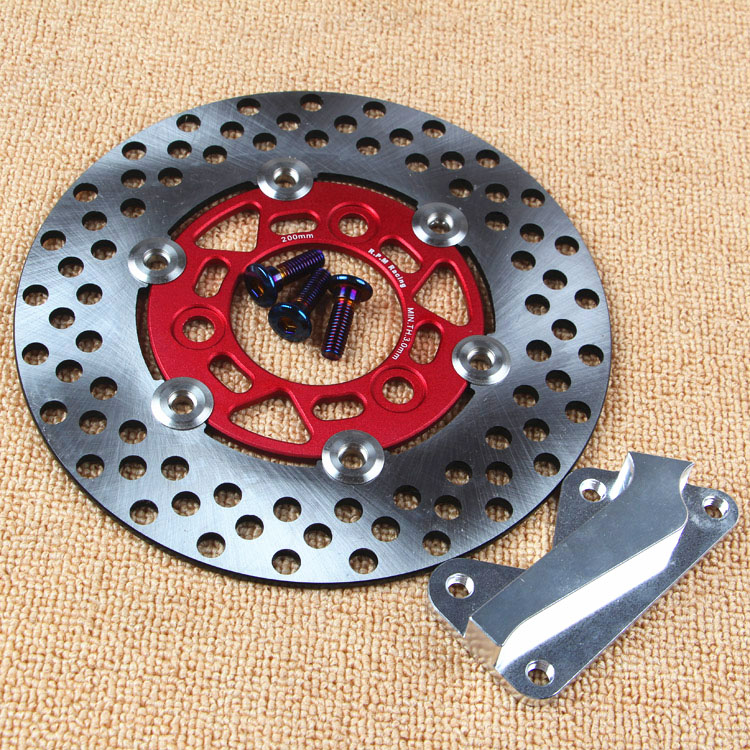 Scooter <font><b>200mm</b></font> Brake Disc/<font><b>rotor</b></font> And Adapter/bracket For Honda Dio 28 34 35 36(using Original Brake Caliper And Front Fork) image