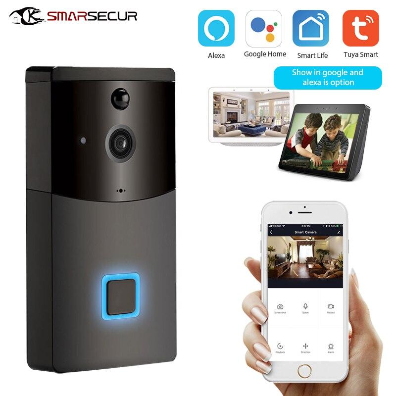 Tuya Smart Wifi Doorbell Rainproof Intercom PIR Motion Detector Night Vision Security Camera