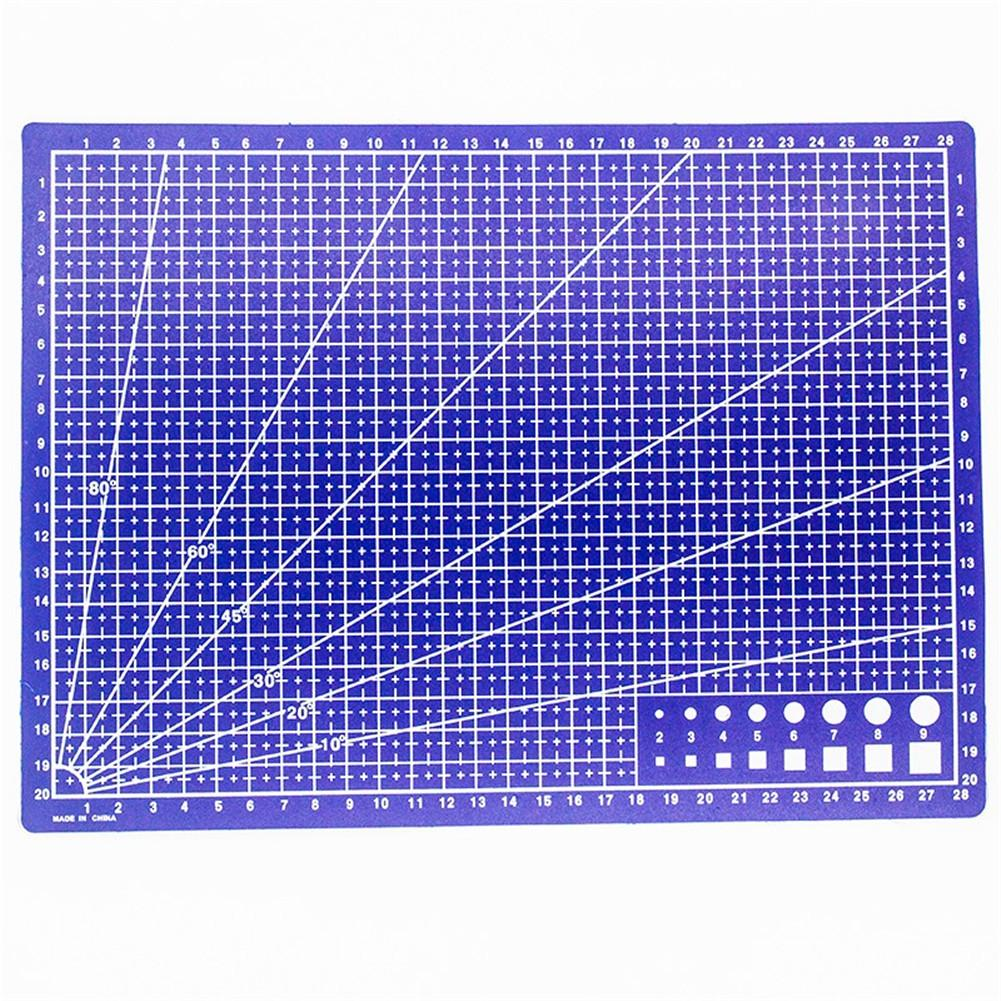 1 PCS A4 Grid Lines Cutting Mat Craft Card Fabric Leather Paper Board Handmade Diy Accessory Cutting Plate