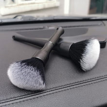 Alongar versão super macio branco escova de limpeza de cabelo interior eletrostática poeira remover ferramentas para detalhe fábrica dois modelos