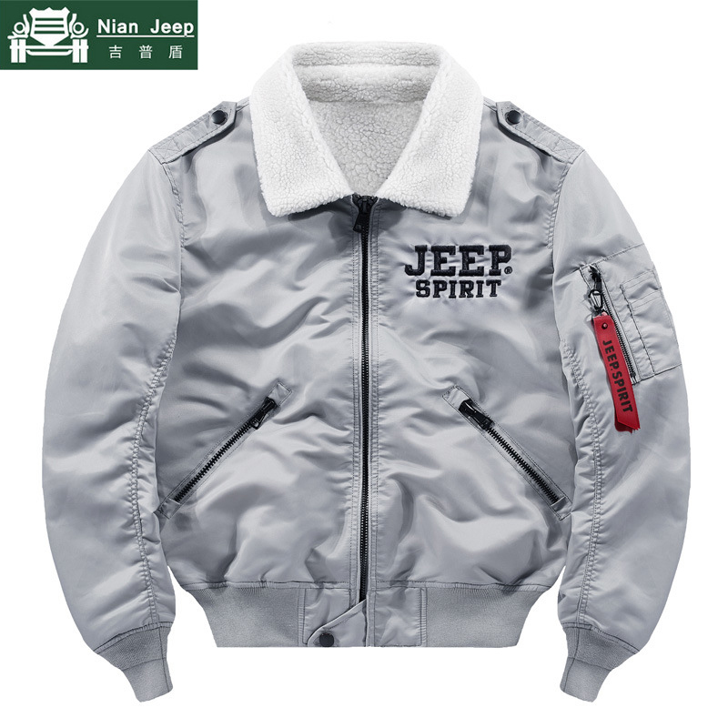 Winter Streetwear Military Pilot Jacket Men Air Force Thick Bomber Jacket Multi-pocket Ribbon Baseball Jackets Male Size M-4XL