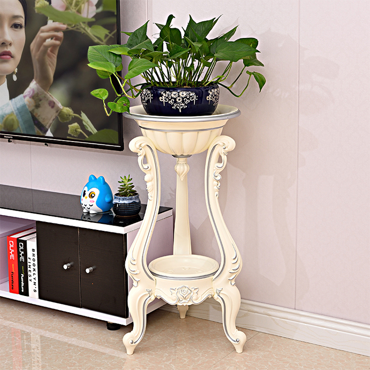 European Living Room Flower Stands Multi-layer Plastic Flower Pot Shelf Balcony Floor Hanging Orchid Stand Flower Pot Support