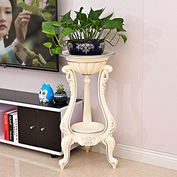European living room flower stands multi-layer plastic flower pot shelf balcony floor hanging orchid stand flower pot support