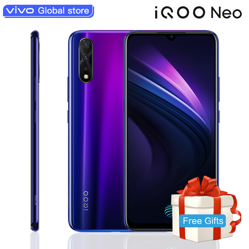 Original vivo iQOO Neo <font><b>Smartphone</b></font> Snapdragon 845 8GB <font><b>64GB</b></font> 4500 mAh Big Battery 22.5W Fast Charging 6.38-inch <font><b>Celular</b></font> Cell Phones image