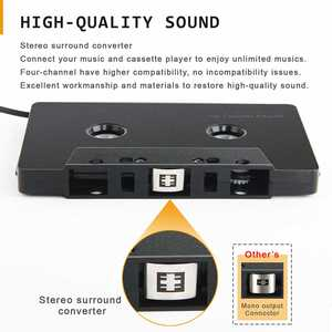 Cassette-Adapter Converter Car-Audio Stereo Bluetooth Mini Input Four-Channel Smartphone